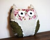 Meet Kate. The Vintage Patchwork Owl Cushion / Owl Pillow / Owl Plushie