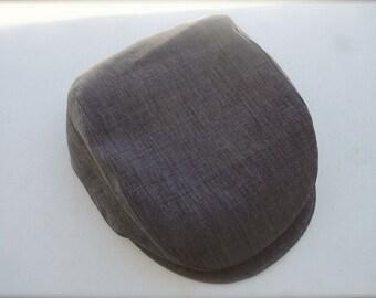 Vintage Charcoal Grey oval golfers beret, newsboy hat for little boys