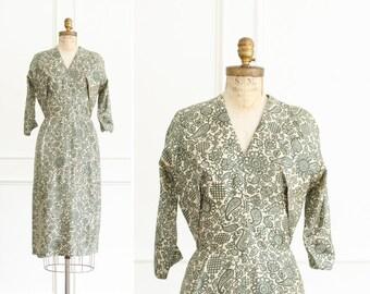 Vintage Dorothy O'hara Silk Floral Designer Dress - Mid Century