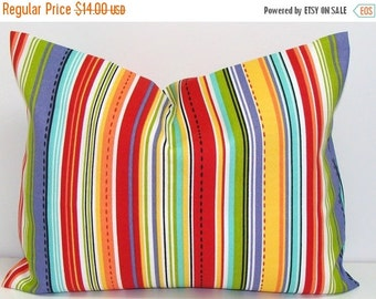 OUTDOOR Pillow Sale.Stripe.12X16 inch.Decorative Pillow Cover.Housewares.Home Decor.Red.Orange.Green.Indoor.Outdoor.Cushion.cm