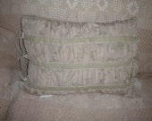 Laura Ashley Throw Pillow, French Boudoir, Shabby Chic, Eclectic