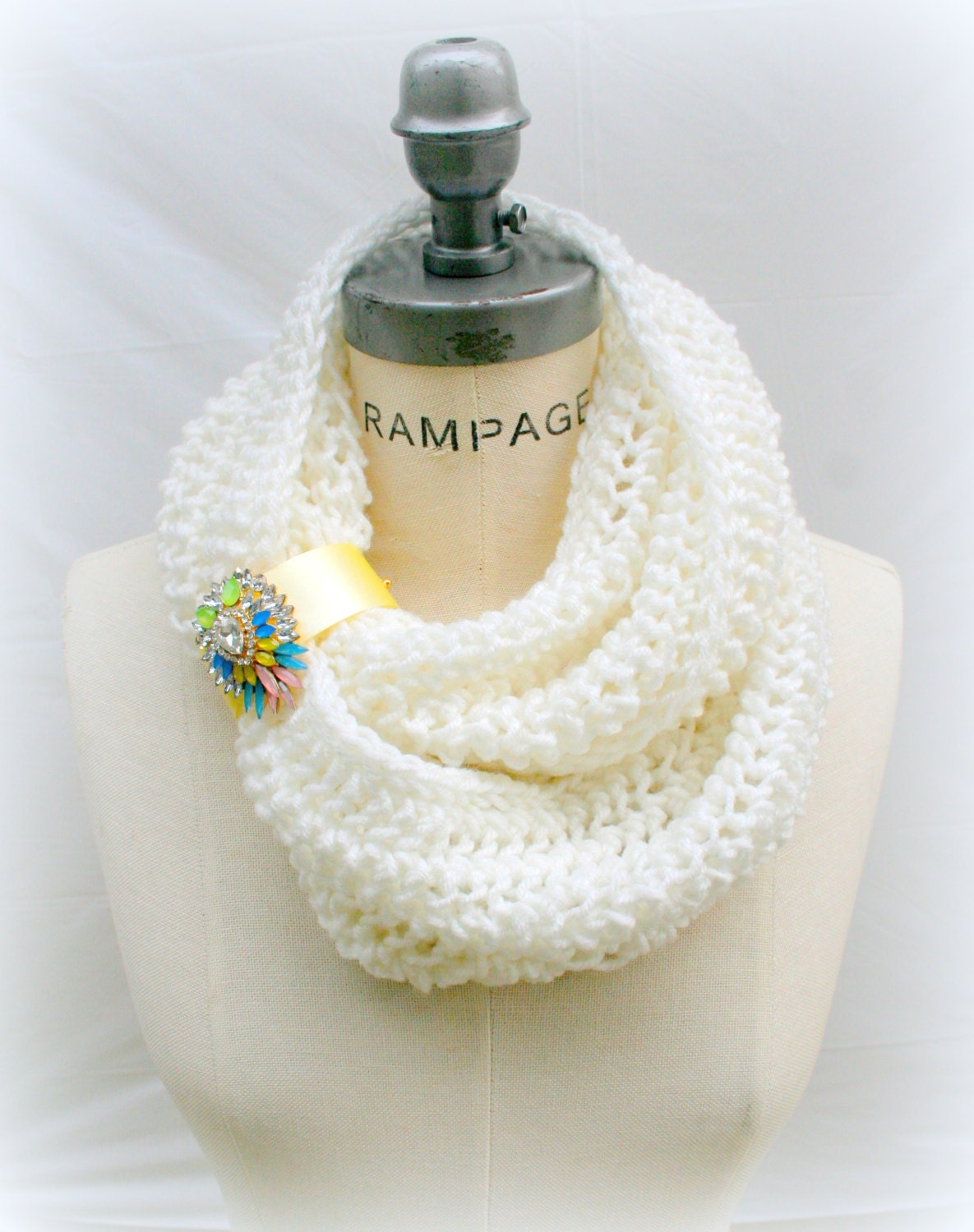 Knitting Items To Sell : Hand knitted scarfs gift women top selling shops item white