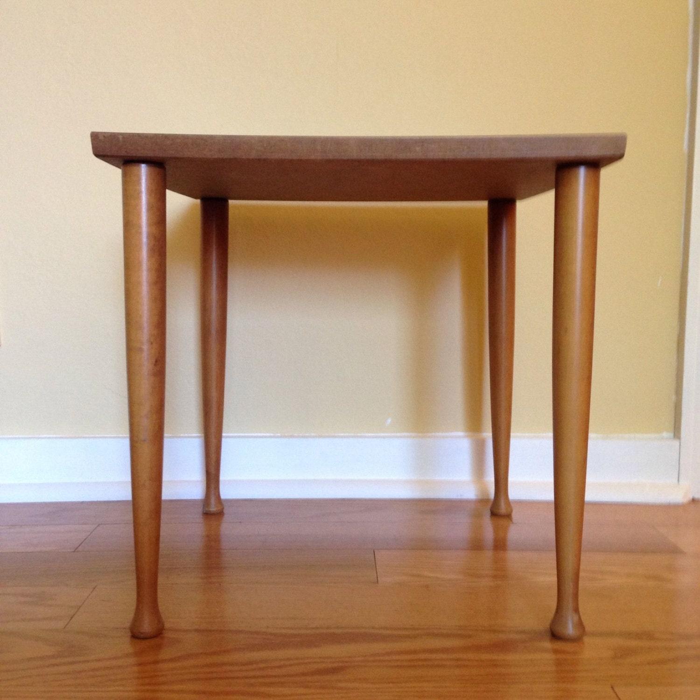Vintage Mid Century Modern Wood Legs SIDE TABLE Formica