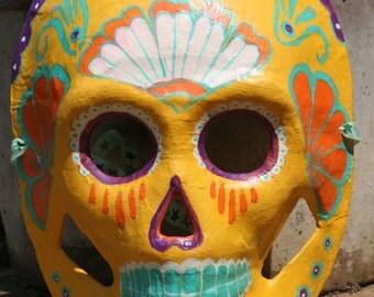 Flower design style Calavera- Dia De Los Muertos mask decoration
