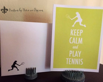 Tennis notecards Keep Calm and Play Tennis Tennis Gifts