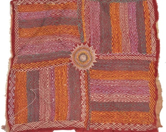 Original Vintage Kantha Patch for craft project D77
