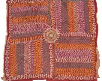Original Vintage Kantha Patch for craft project D77