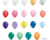 "Mini 5"" Balloons Set of 12 -White, Black Clear, Dots, Gold, Silver, Red, Pink, Coral, Purple, Lilac, Yellow, Blue, Green, Mint, Teal, Orange"