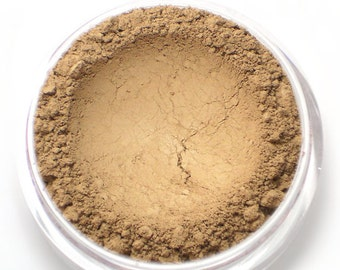 "Matte Light Contour Powder - Mineral Bronzer - ""Hollow"" (light taupe brown / tan Net Wt 4.5g jar) - Vegan"