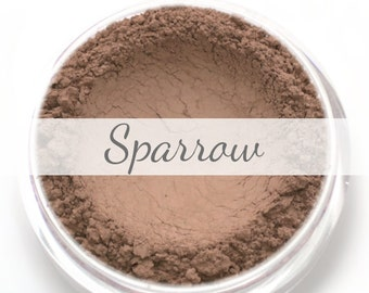 "Matte Taupe Contour Powder Sample - ""Sparrow"" (.75g Net wt) - Vegan Matte Mineral Makeup Contouring Bronzer for cool toned skin"