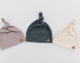 Uinta | Infant Knotted Beanie | Organic Cotton Baby Cap