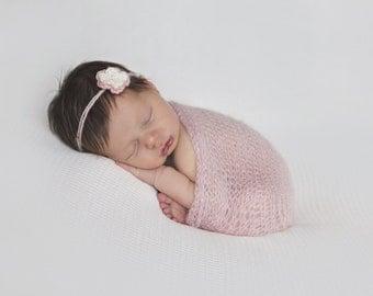 Baby Headband, Infant Headband, Newborn Headband, Flower Headband, Headband Tieback, Baby Girl Headband, Newborn Photo Prop, Newborn Tieback