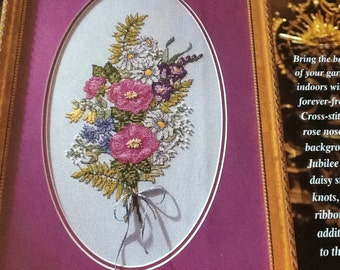 WILD ROSES BOUQUET -  Cross Stitch Pattern Only