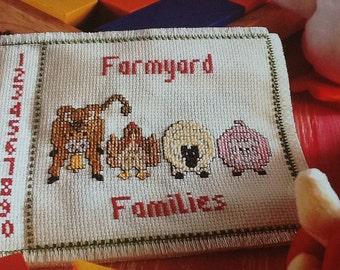 Cloth Book - FARMYARD ANIMALS - Cross Stitich Pattern Only