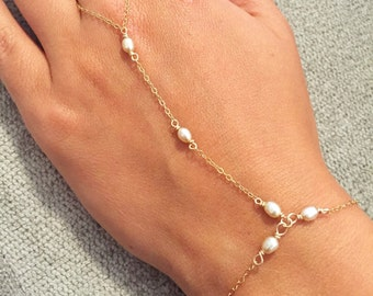 The Alexandra Hand Chain Bracelet, As Seen on Alvina Valenta's Lookbook, Chain Ring Bracelet, Boho Hand Chain, handchain Bracelet, Chainring