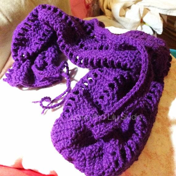 Crochet Purple Yoga Mat Bag Yogi Pilates Violet Grape Purple