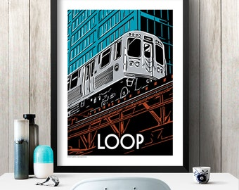 LOOP Chicago Neighborhood Poster