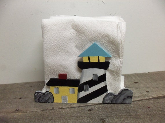 Items similar to lighthouse napkin holder lighthouse - Coastal napkin holder ...