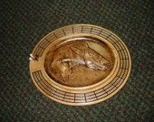 Walleye 3 track oval cribbage board with storage