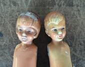 Antique porcelain dolls for crafts