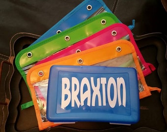 Personalized monogrammed Kids School Box or Pencil Case Back to School