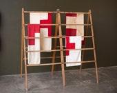 Vintage Home Decor / 1910's / Orignal Wooden Folding Laundry Rack / Folding Clothing Rack