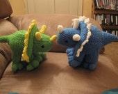 Sarah the Blue triceratops dinosaur pattern PDF file