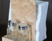 Wooden Napkin Holder and Salt and Pepper Caddy made out Figured Maple - Free Shipping to USA