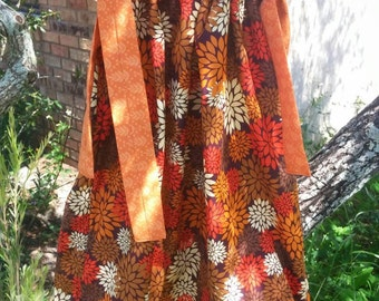 Fall Flowers Dress 3/4yr