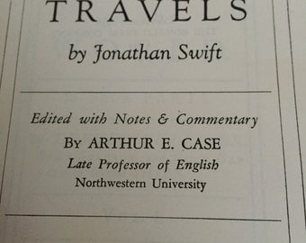 Gullivers Travels by Jonathan Swift Ronald Press Co New York