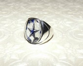 Dallas Cowboys Inspired Marble Ring