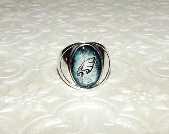 Philadelphia Eagles Inspired Marble Ring