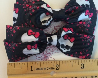 Super Cute Monster High Hair Bows with Clips