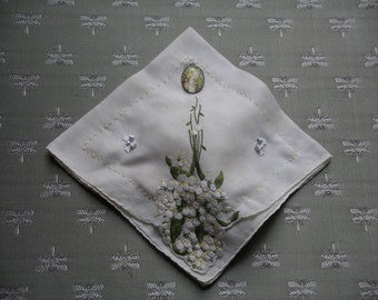 Lily-of-the-Valley Vintage Hanky Sachet