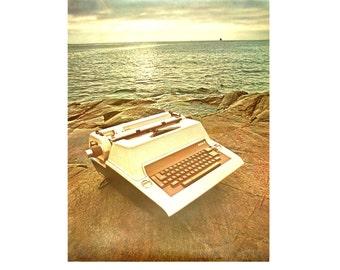 Large Format Royal Typewriter Advertising Poster