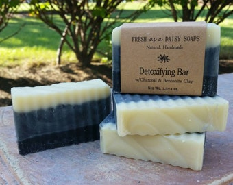 Detoxifying Bar, Natural Handmade Soap, Scent Removing Soap, Hunters Soap