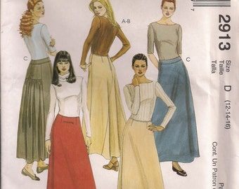 McCall's Sewing Pattern 2913 - Misses'/Miss Petite Skirts (12-16)