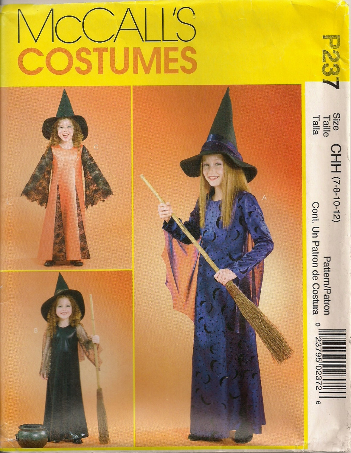 McCall's Costume Sewing Pattern P237 (aka M4620) - Children's and ...