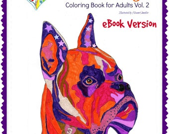 eBook Love Dogs Coloring Book for Adults Vol. 2 - Coloring Book - PDF Instant Download - 30 coloring pages