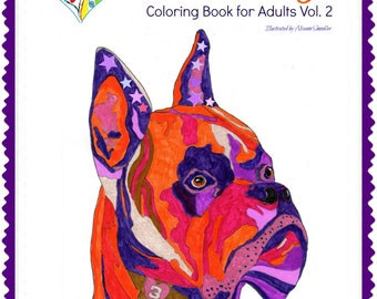 Love Dogs - Coloring Book for Adults Vol. 2 - Multiple Dogs - Bound or UnBound Book -30 coloring pages-Single-sided pages