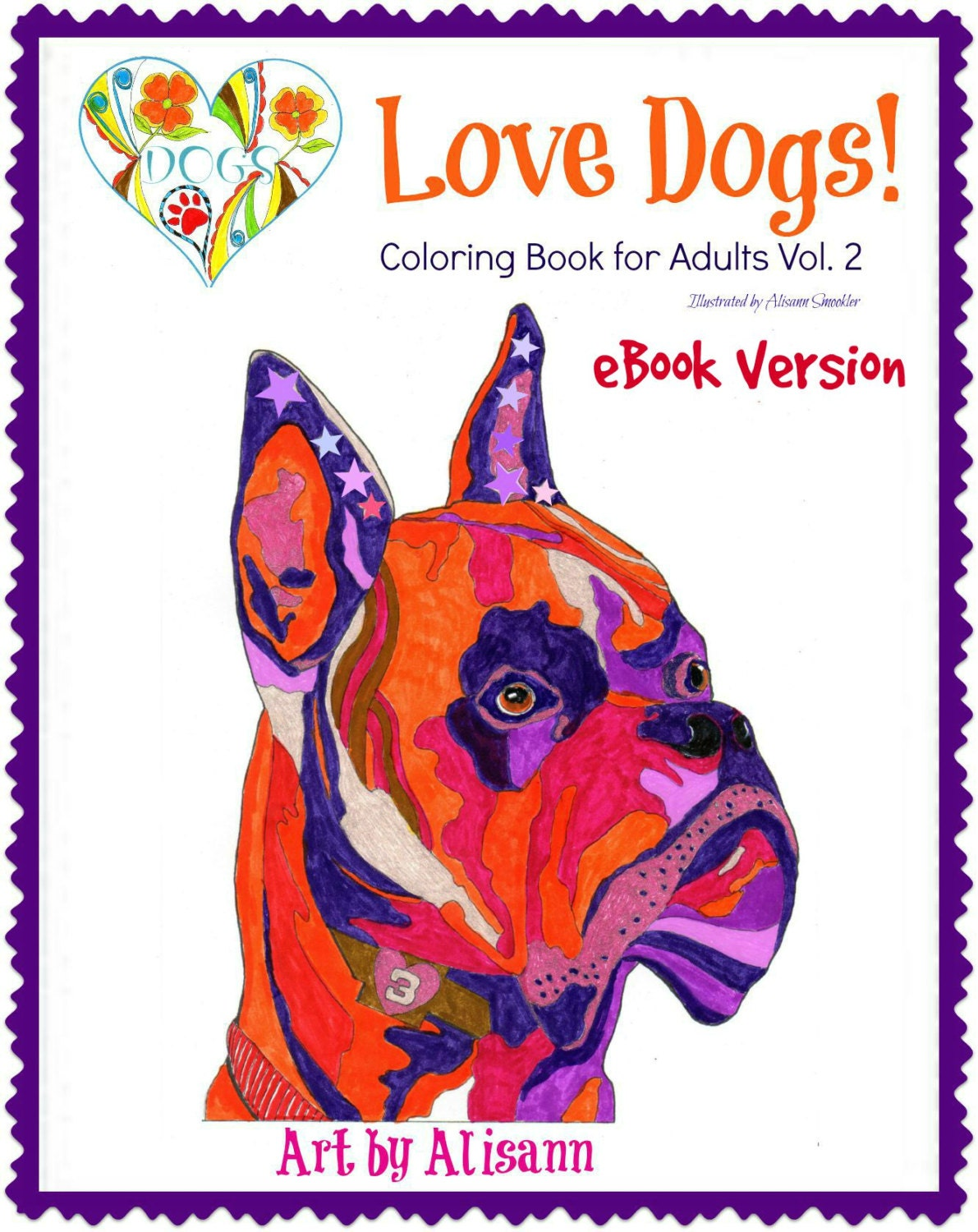 Coloring Book For Adults Ebook : eBook Love Dogs Coloring Book for Adults Vol. 2 Coloring