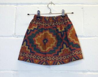 Upcycled Aztec Girls Skirt