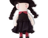 Halloween Witch Doll Halloween Cloth Doll Fabric Halloween Rag Doll 12 inch Witch My Fashion Doll Soft Witch Halloween Dress Up Doll
