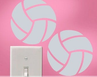 Vinyl Wall Decals: Volleyball Mini Decals, Laptop Decals, Locker Decals, Notebook Decals