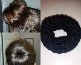 Crocheted sock bun