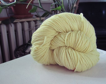 Naturally Dyed Highlighter Yellow Wool Yarn
