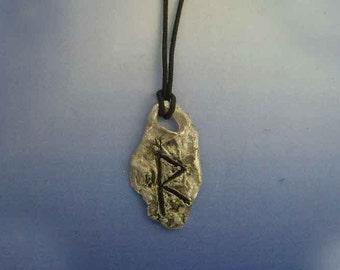 rune viking Raidoh Raidu Rit Raid Raidr sterling silver 925 pendant escandinavian charm necklace amulet