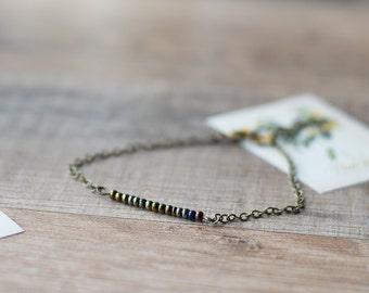 Olive beaded bracelet - thin bracelet - stacking bracelet - layering bracelet - simple bracelet - delicate jewelry - minimalist jewelry