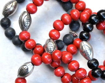 College Football Charm Beaded Bracelets | FREE SHIPPING