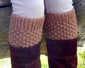 KNITTING PATTERN Boot Cuff Boot Toppers - Easy Bramble Stitch Pattern in 3 sizes Instant Digital Download PDF